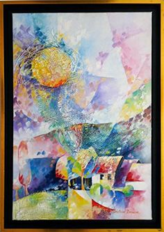 Soleil printanier 40 x 60 cm  Painting by Beatrice BEDEUR >>> You can get more details by clicking on the image. (This is an affiliate link)