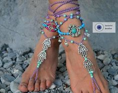 PEACE sign BAREFOOT sandals Black and Gold Gypsy Sandals New Years Party bottomless shoes Crochet Toe thongs Black sandal Garden wedding Bare Foot Sandals, Beach Sandals, Boho Shoes, Owl Charms, Anklet Bracelet, Female Feet, Hamsa Hand, Beautiful Gift Boxes, Acrylic Beads