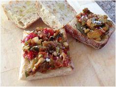 Za'atar Eggplant Pizza with Roasted Garlic & Arugula | Little Lady Bi...