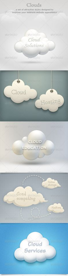 Buy Clouds Set by adreine on GraphicRiver. Description: 5 styles of clouds created for your web projects, advertising or print design. The files are fully layer. Pencil Illustration, Digital Illustration, Graphic Illustration, Free Design, Design Art, Print Design, Graphic Design, Indesign Templates, Print Templates