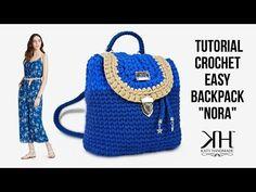 "Tutorial zaino ad uncinetto ""Nora Backpack"" - Crochet DIY bag ● Katy Handmade - YouTube"