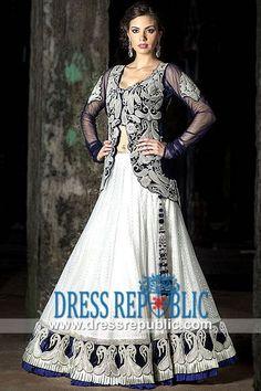 Z Fashion Trend: DESIGNER BLUE NET WEDDING DRESS