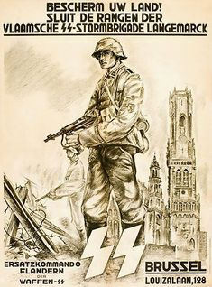 Recruiting poster for the Flemish Langemark Division.
