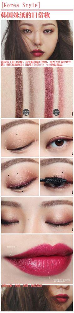 Korean Style Makeup - red tone