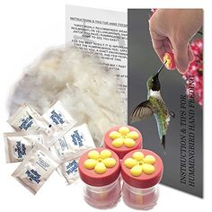 Hummingbird Handheld Button Feeders with Instructions and Hum, Mini Aroma Trees http://www.amazon.com/dp/B00VQZ1CNC/ref=cm_sw_r_pi_dp_YkWVwb10XW9RY