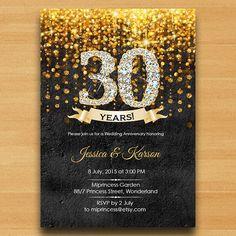 Anniversary Invitation Wedding Anniversary by miprincess on Etsy