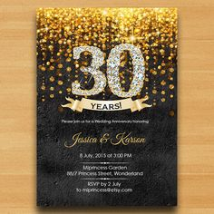 Anniversary Invitation Wedding Anniversary by miprincess on Etsy                                                                                                                                                                                 More