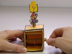 Paper Mario Bros. automaton tutorial. I heart this so much...power up!