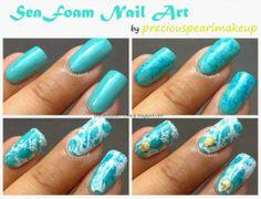 Sea Foam Nails Tutorial
