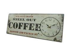 Precioso reloj de pared vintage modelo café - Fancy vintage wall clock, coffee model
