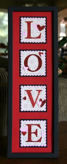 Stampin' Up!  Love Frame  Krystal De Leeuw  Valentine Decor