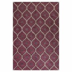 Showcasing a floral-inspired ogee motif, this artfully hand-tufted wool rug offers a perfectly patterned pop of style for your floors.   Product: RugConstruction Material: 100% WoolColor: Lilac Features: Hand-tuftedNote: Please be aware that actual colors may vary from those shown on your screen. Accent rugs may also not show the entire pattern that the corresponding area rugs have.Cleaning and Care: Regular vacuuming and spot cleaning recommended