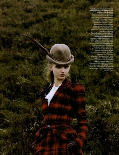 """Take the Road"": Kamila Filipcikova and Agnete Hegelund in the Scottish Highlands by Venetia Scott for Vogue UK September 2008"