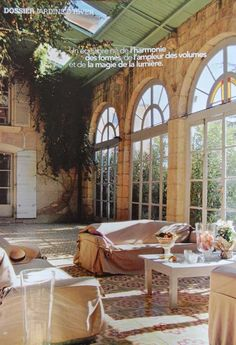 the large window with arches....indoor - outdoor???