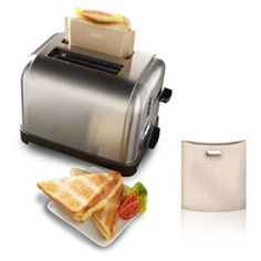 Pretty clever idea.  I wonder what costs less to operate, firing up the electric grill or toasting in this sweet bag in your counter top toaster....hmmm?