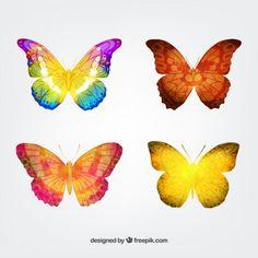 Free vector Watercolor butterflies #14938