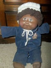 """Vintage Cabbage Patch Kid, 1982, African American """"Elliot"""" EUC"""