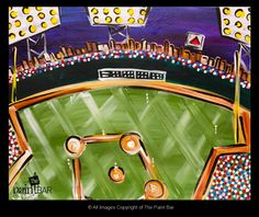 Fenway Night Game Painting - Jackie Schon, The Paint Bar