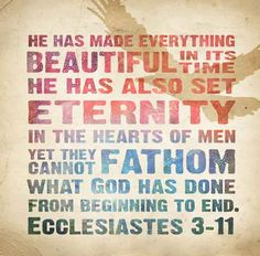 Image result for God placed eternity in our hearts