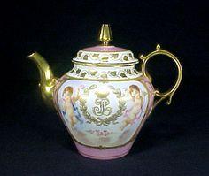 Sevres Porcelain Teapot Enameled
