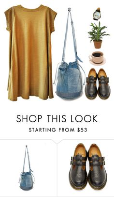 """I can tell you're tired"" by taryn-ash ❤ liked on Polyvore featuring Motel, Dr. Martens and 17"