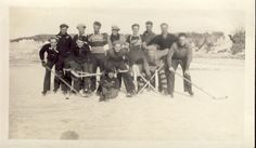 HOCKEY PLAYERS on FROZEN Pond Photo Circa 1920s by NiepceGallery, $19.00