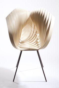 extraordinary wooden Yumi Chair |chair . Stuhl . chaise |Design: Laura Kishimoto|