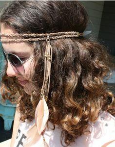 haarband-hoofdband-licht-bruin-veren-veertjes-ibiza-stijl