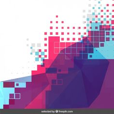 Colorful pixelated background Free Vector