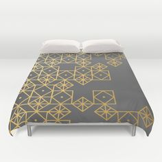 Geometric Gold Duvet Cover