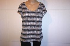 WORTHINGTON Shirt Top Sz PXL Spandex Stretch Short Sleeves Womens Casual #Worthington #KnitTop #Casual
