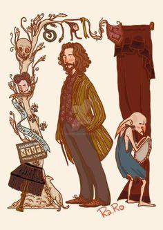 Sirius Black: conocido como Canuto (mapa del merodeador) y Hocico (por Harry, Hermione y Ron). Era el mejor amigo de James y Lily Potter. Estuvo preso en Azkaban. Creían que él había entregado a James y a Lily a Voldemort