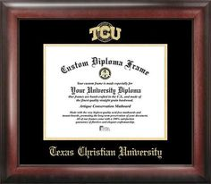 TCU Texas Christian Home Office Diploma Picture Frame