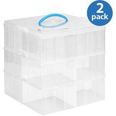 "Snapwware Snap'N'Stack Storage Unit, 12"" x 12"", 3-Layer, Set of 2"