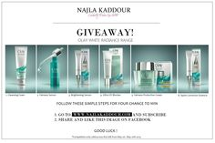 HUGE GIVEAWAY! White Radiance Range by OLAY