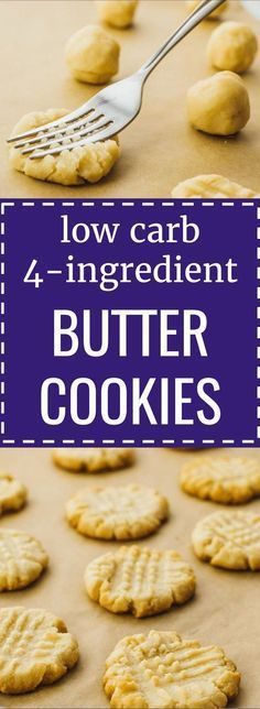 Low carb butter cookies with almond flour. keto / low carb / diet / atkins / induction / meals / recipes / easy / dinner / lunch / foods / healthy / gluten free / paleo / christmas / shortbread / danish / recipe / 3 ingredient / simple / dutch / ketogenic