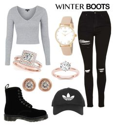 """""""winter boot #49"""" by izzyclark02 ❤ liked on Polyvore featuring Topshop, Dr. Martens, Allurez, Ron Hami and Kate Spade"""