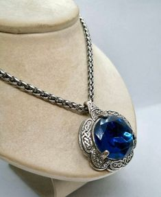 Excited to share this item from my shop: Vintage Miracle Necklace, Blue Glass Necklace, Celtic Necklace, Vintage Jewelry, Scottish Jewellery Vintage Lockets, Vintage Necklaces, Antique Jewelry, Vintage Jewelry, Vintage Pins, Celtic Necklace, Valentines Gifts For Her, Art Deco Earrings, Diffuser Necklace