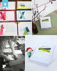 Washi_tape_calendar_PB_2013_5...using an old cd case as the stand. So smart!!