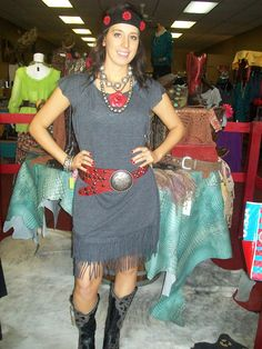 Double D ranch fringe dress!