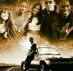 Tyrese Gibson with Paul Walker Fast And Furious, The Furious, Dwayne The Rock, Michelle Rodriguez, Vin Diesel, Dom And Letty, I Am Legend, Man On Fire, The Illusionist