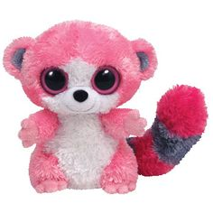 Ty Beanie Boos - Bubblegum the Lemur (UK Exclusive) Big Eyed Stuffed Animals, Big Eyed Animals, Ty Animals, Rare Beanie Boos, Rare Beanie Babies, Shopkins, Ty Peluche, Ty Babies, Babies Stuff