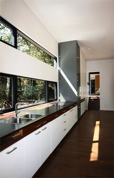 Geometry in black, Saint-Hippolyte, 2009 http://bit.ly/AAJ1lQ #archilovers #architecture #kitchen