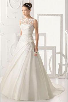 Glamorous A-line appliques decorazione di abiti da sposa in organza