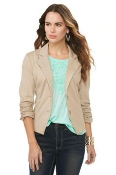 6efbc152815 Cato Fashions Ruffled Military Jacket-Plus  CatoFashions