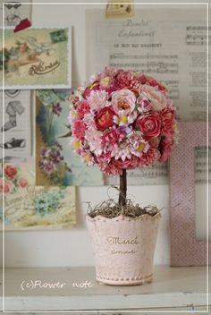 【トピアリー】開店祝に大人かわいいお花で|Flower note の 花日記