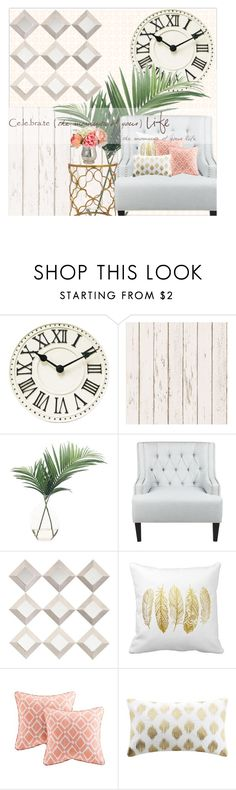 """""""It's a Girl Thing"""" by cindycook10 ❤ liked on Polyvore featuring interior, interiors, interior design, home, home decor, interior decorating, NDI, Sloane, Madison Park and Ink & Ivy"""