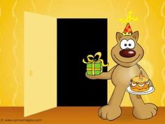 Tarjeta de Cumpleaños, Como no podré saludarte en persona. Como hoy no podré felicitarte en persona...  te envío a un representante. FELIZ CUMPLEAÑOS! Muchas felicidades en tu día!.  www.CorreoMagico.com