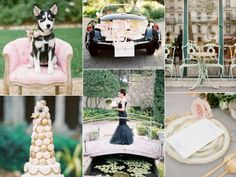 Casamento em preto e branco, inspirado em Paris. Blush pink and black Paris wedding - burnettsboards.com