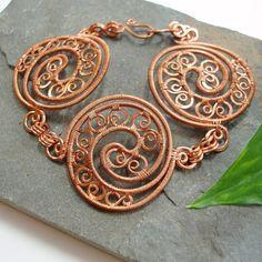 Boudica  Triple Celtic Disc bracelet by Abbyjewellery on Etsy, $90.75